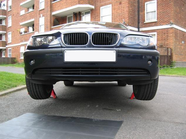 BMW e46 on Jack Stands